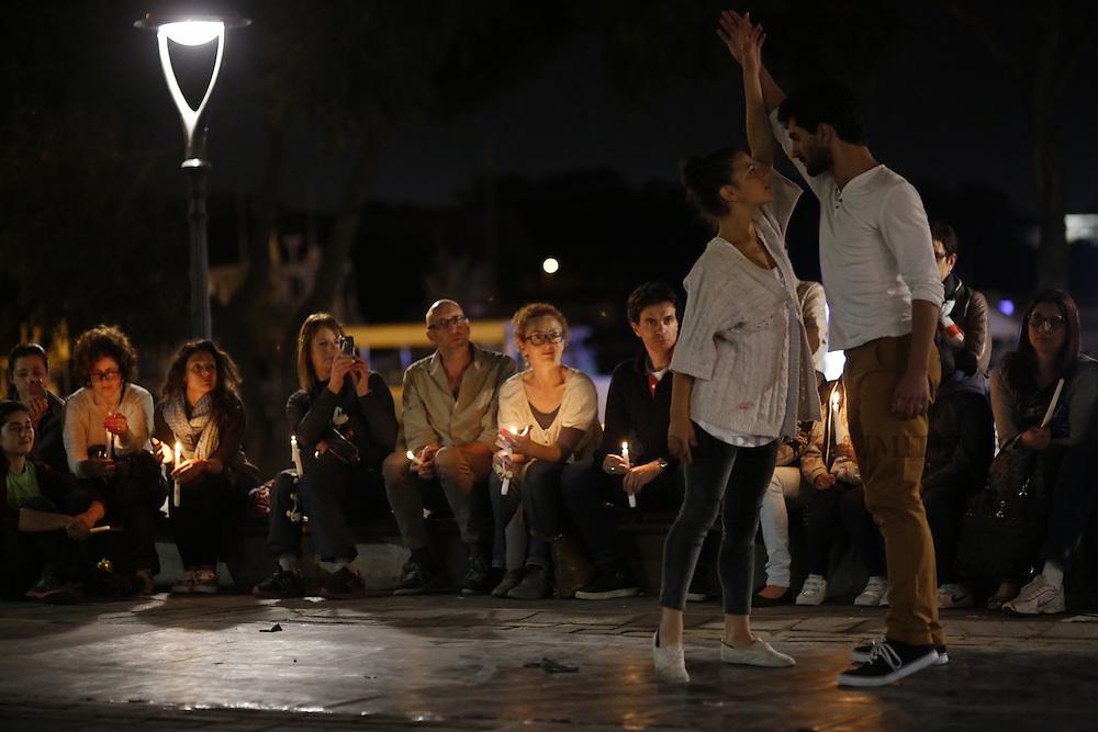Zfinmalta dance commemorating migrants in St Anne's Square, Sliema