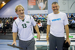 Tomaz Vnuk and Bojan Pozar at Tennis exhibition day and Slovenian Tennis personality of the year 2013 annual awards presented by Slovene Tennis Association TZS, on December 21, 2013 in BTC City, TC Millenium, Ljubljana, Slovenia.  Photo by Vid Ponikvar / Sportida