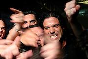 Israel, Heavy Metal band, Salem, lead singer Ze'ev Tenenboim on stage facing the crowd