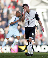 Photo: Paul Thomas.<br /> Preston North End v Manchester City. The FA Cup. 18/02/2007.<br /> <br /> A dejected David Nugent after City score their second goal.