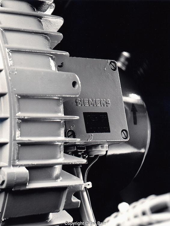 Close up of segment of laser printer.