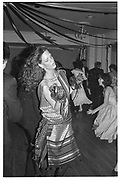 Trinny Woodall dancing.  Juliet Hohnen and Louisa Moore's 18th.  Hurlingham club. July 1983. SUPPLIED FOR ONE-TIME USE ONLY> DO NOT ARCHIVE. © Copyright Photograph by Dafydd Jones 66 Stockwell Park Rd. London SW9 0DA Tel 020 7733 0108 www.dafjones.com