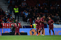 March 22, 2019 - Madrid, MADRID, SPAIN - Alejandro Guerra of Venezuela celebrates a goal during the international friendly football match played between Argentina and Venezuela at Wanda Metropolitano Stadium in Madrid, Spain, on March 22, 2019. (Credit Image: © AFP7 via ZUMA Wire)
