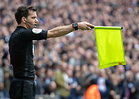 Football - 2018 / 2019 Premier League - Tottenham Hotspur vs. Arsenal<br /> <br /> The Assistant Referee rules out Harry Kane (Tottenham FC) goal for offside at Wembley Stadium.<br /> <br /> COLORSPORT/DANIEL BEARHAM