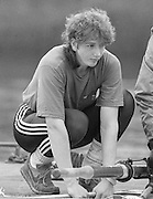 Staines, GREAT BRITAIN,   <br /> Sue SMITH. British Rowing Women's Heavy Weight Assessment. Thorpe Park. Sunday 21.02.1988,<br /> <br /> [Mandatory Credit, Peter Spurrier / Intersport-images] 1987 GBR Women's H/Weight Assesment Thorpe Park, Surrey.UK