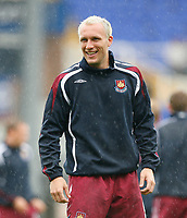 Photo: Steve Bond.<br />Birmingham City v West Ham United. The FA Barclays Premiership. 18/08/2007. Dean Ashton in the rain