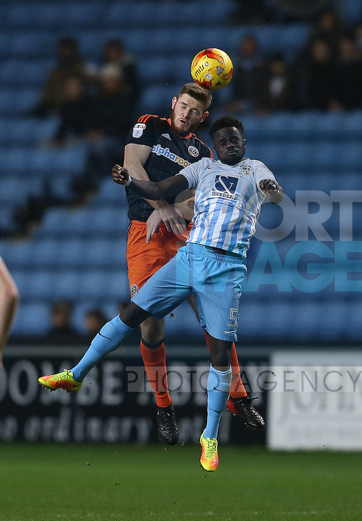 Jack O'Connell of Sheffield Utd during the English League One match at the Rioch Arena Stadium, Coventry. Picture date: December 15th, 2016. Pic Simon Bellis/Sportimage