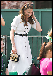 July 2, 2019 - London, London, United Kingdom - Image licensed to i-Images Picture Agency. 02/07/2019. London, United Kingdom. The Duchess of Cambridge on the second day of the Wimbledon Tennis Championships in London. (Credit Image: © Stephen Lock/i-Images via ZUMA Press)