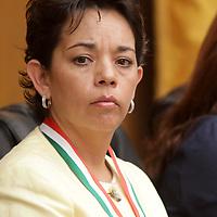 TOLUCA, México.- Guadalupe Monter Flores, Secretaria de Educación del Estado de México durante  el reconocimiento hecho por la Sociedad La Sociedad Mexicana de Geografía y Estadística del Estado de México  (SOMEGEM) al Sistema de Radio y Televisión Mexiquense y el Colegio Mexiquense. Agencia MVT / Crisanta Espinosa. (DIGITAL)