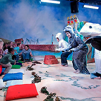Picture shows : (l-r) Denise Hoey as Bubble McBea,  Natalie Toyne  as  Serena the Seal, Aly MacRae  as The Fish Minister Alex Salmon and  Mark Prendergast as Nippy the Crab. ..Picture  ©  Drew Farrell Tel : 07721 -735041.Scottish Opera's  production of.'The Undersea World of Bubble McBea.'..Score by Alan Penman and Lyrics by Allan Dunn...As Bubble?s adventure unravels she learns many new things. She discovers all about her past, learns about the variety of life under the sea and she begins to understand how little mistakes can cause BIG problems. She also learns all about energy; how it is made and, most importantly, how it can be conserved..Designed to help the youngest members of our society find out more about the natural world that surrounds them, Bubble McBea is full of fishy fun - perfect for families with fins and without!..Note to Editors:  This image is free to be used editorially in the promotion of Scottish Opera. Without prejudice ALL other licences without prior consent will be deemed a breach of copyright under the 1988. Copyright Design and Patents Act  and will be subject to payment or legal action, where appropriate..Further further information please contact Keren Nicol Scottish Opera Press  t:   0141 242 0511.
