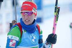 Klemencic Polona of Slovenia competes during the IBU World Championships Biathlon Single Mixed Relay competition on February 18, 2021 in Pokljuka, Slovenia. Photo by Vid Ponikvar / Sportida