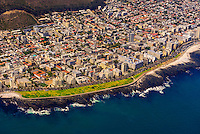 Aerial View, coastline, Cape Town, South Africa.