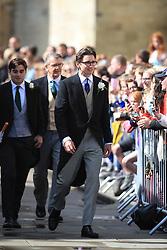Caspar Jopling arriving at York Minster for his wedding to singer Ellie Goulding.