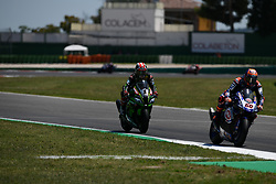 July 8, 2018 - Misano, Italy, Italy - 1 Jonathan Rea GBR Kawasaki ZX-10RR Kawasaki Racing Team WorldSBK during the Motul FIM Superbike Championship - Italian Round  Sunday race during the World Superbikes - Circuit PIRELLI Riviera di Rimini Round, 6 - 8 July 2018 on Misano, Italy. (Credit Image: © Fabio Averna/NurPhoto via ZUMA Press)
