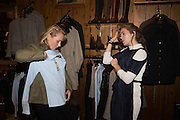 SOPHIE FAIRCLOUGH;  SOPHIE WILSON , Tatler and Dubarry host an evening with Clare Balding, Dubarry of Ireland, 34 Duke of York's Sq. London. 13 October 2016.