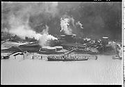 "Ackroyd 03525-26 ""Aerials, Portland, April 3, 1952"" ""Portland Gas & Coke""  (Gasco, DEQ site ID 84, south of St. Johns bridge, Siltronic)"