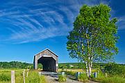 Sawmill Creek #1 Covered bridge across Sawmill Creek<br />Riverside-Albert<br />New Brunswick<br />Canada