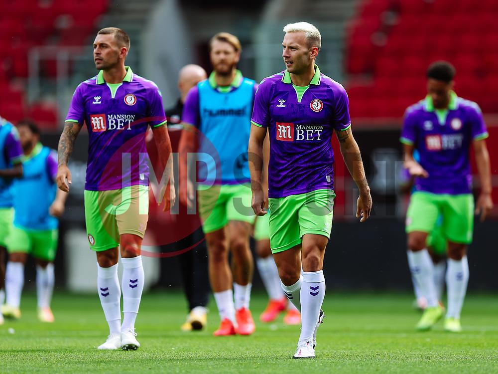 Andreas Weimann of Bristol City - Rogan/JMP - 21/08/2020 - Ashton Gate Stadium - Bristol, England - Bristol City v Cheltenham Town - Pre Season Friendly.