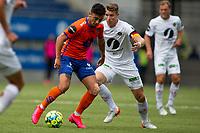 Fotball , 01 Juli 2020 , Eliteserien, AaFK - Mjøndalen , Niklas Fernando Castro og Christian Gauseth <br /> <br /> <br /> , Foto: Srdan Mudrinic, Digitalsport