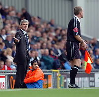 Photo: Back Page Images. 16/10/2004.<br /> Barclays Premiership. Blackburn Rovers v Middlesbrough. Ewood Park.<br /> Mark Hughes cant believe whats going on