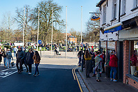 Statford upon Avon 28/02/21 tourists and day trippers return to visiting the historic Warwickshie town as an early spring day brings out the sun.Warwickshire police said they would be out in force to ensure covid measures were being met but there was literally none at all.Photo  by Mark Anton Smith