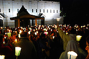Israel, Nazareth, Basilica of the Annunciation, Easter Mass
