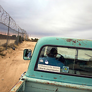 Bob Maupin, a rancher along the U.S. Mexico border in Campo, California, patrols his property for undocumented migrants on Barack Obama's inauguration day, January 20, 2009. Please contact Todd Bigelow directly with your licensing requests.