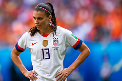 07-07-2019 FRA: Final USA - Netherlands, Lyon<br /> FIFA Women's World Cup France final match between United States of America and Netherlands at Parc Olympique Lyonnais. USA won 2-0 / Alex Morgan #13 of the United States