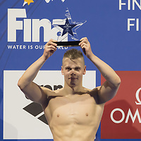 Danas Rapsys of Lithuaniau won the Men's 200m Freestyle competition at the FINA Champions Swim Series at the Danube Arena in Budapest, Hungary on May 11, 2019. ATTILA VOLGYI