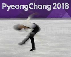 February 17, 2018 - Pyeongchang, KOREA - Junhwan Cha of Korea competing in the men's figure skating free skate program during the Pyeongchang 2018 Olympic Winter Games at Gangneung Ice Arena. (Credit Image: © David McIntyre via ZUMA Wire)
