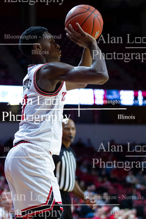 NORMAL, IL - January 19: Antonio Reeves during a college basketball game between the ISU Redbirds and the Loyola University Chicago Ramblers on January 19 2020 at Redbird Arena in Normal, IL. (Photo by Alan Look)