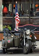 Degtyaryov machine gun and WW2 Bike Ural