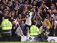 Clint dempsey celebrates getting the third<br /> F.A. Barclays Premiership. Fulham v Liverpool. 31.10.09<br /> Photo By Karl Winter Fotosports International