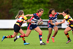 Lucy Attwood of Bristol Ladies evades the tackle of Tess Braunerova of Richmond ladies - Mandatory by-line: Craig Thomas/JMP - 17/09/2017 - Rugby - Cleve Rugby Ground  - Bristol, England - Bristol Ladies  v Richmond Ladies - Women's Premier 15s