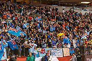 VANCOUVER, BC - MARCH 11: Fiji fans ecstatic as Fiji grow the lead during Game # 45- Cup Final Fiji vs Kenya Cup Final match at the Canada Sevens held March 11, 2018 in BC Place Stadium in Vancouver, BC. Final score: Fiji- 31, Kenya- 12. (Photo by Allan Hamilton/Icon Sportswire)