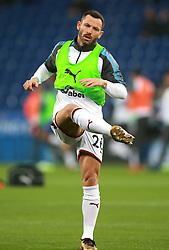 """Burnley's Phil Bardsley warming up during the Premier League match at the King Power Stadium, Leicester. PRESS ASSOCIATION Photo Picture date: Saturday December 2, 2017. See PA story SOCCER Leicester. Photo credit should read: Mike Egerton/PA Wire. RESTRICTIONS: EDITORIAL USE ONLY No use with unauthorised audio, video, data, fixture lists, club/league logos or """"live"""" services. Online in-match use limited to 75 images, no video emulation. No use in betting, games or single club/league/player publications."""