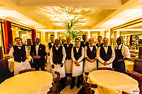 Waiters, Le Cafe du Commerce (restaurant), Paris, France.