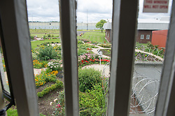The garden at HMP Featherstone