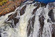 Detail of River aux Sables <br />Chutes Provincial Park<br />Ontario<br />Canada