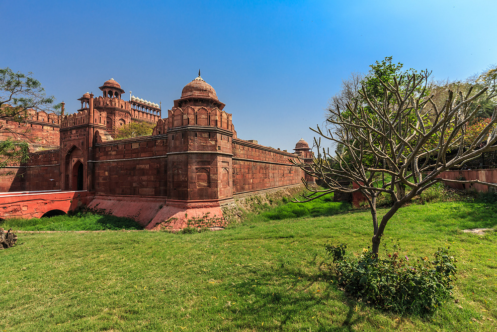 The Delhi Gate is a second entrance to the Red Fort in Delhi, India. The Red Fort was the residence of the Mughal emperor for nearly 200 years, until 1857. Near Delhi Gate on the right the last emperor was imprisoned after September 1857.
