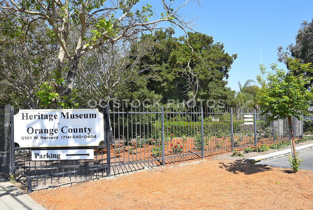 Santa Ana Heritage Museum Sign Entrance