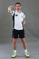 Umpire Chris Molloy signalling ball over third