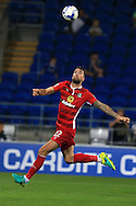 Shane Duffy of Blackburn Rovers in action. EFL Skybet championship match, Cardiff city v Blackburn Rovers at the Cardiff city stadium in Cardiff, South Wales on Wednesday 17th August 2016.<br /> pic by Andrew Orchard, Andrew Orchard sports photography.