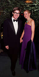 MR TIM & LADY HELEN TAYLOR at a party in London on 17th October 2000.OHY 34