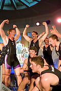Bayswater, London, Reading University, left, Marcus BATEMAN and Bill LUCAS, celebrate after winning the Snowdon Rowing Challenge, on Friday   05/03/2010  at the Porchester Hall London GREAT BRITAIN.  [Mandatory Credit. Peter Spurrier/Intersport Images]