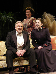 Major Barbara<br /> by Bernard Shaw<br /> at the Olivier Theatre, Southbank, London, Great Britain<br /> press photocall<br /> 3rd March 2008 <br /> <br /> Hayley Atwell (as Barbara Undershaft)<br /> Simon Russell Beale (as Andrew Undershaft)<br /> Clare Higgins (as Lady Britomart Undershaft)<br /> <br /> Photograph by Elliott Franks