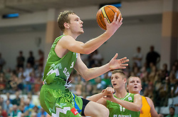 Jaka Blazic of Slovenia during friendly match between National teams of Slovenia and Republic of Macedonia for Eurobasket 2013 on July 28, 2013 in Litija, Slovenia. (Photo by Vid Ponikvar / Sportida.com)