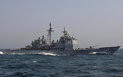 170430-N-RM689-439<br /> PACIFIC OCEAN (April 30, 2017) The Ticonderoga-class guided-missile cruiser USS Lake Champlain (CG 57) prepares to pull alongside the Lewis and Clark-class dry cargo ship USNS Wally Schirra (T-AKE 8) for a replenishment-at-sea. The U.S. Navy has patrolled the Indo-Asia Pacific routinely for more than 70 years promoting regional peace and security. (U.S. Navy photo by Mass Communication Specialist 3rd Class Kelsey L. Adams/Released)