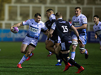 Rugby Union - 2020 / 2021 ERRC Challenge Cup - Newcastle Falcons vs Cardiff Blues - Kingston Park<br /> <br /> Garyn Smith of Cardiff Blues is tackled by Joel Matavesi of Newcastle Falcons<br /> COLORSPORT/BRUCE WHITE