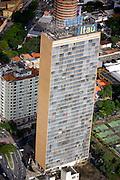 Belo Horizonte_MG, Brasil...Imagens aereas do predio JK em Belo Horizonte...Aerial view of JK building in Belo Horizonte. ..Foto: BRUNO MAGALHAES / NITRO